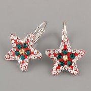 Náušnice CRAZY STAR s kamínky Swarovski® Crystals 20mm - vánoční II