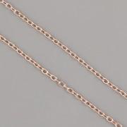 Řetízek OVÁLNÝ tenký 1mm METRÁŽ - růžové zlato - cena za 1cm