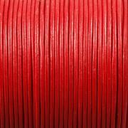 Kožená šňůrka kulatá - červená 1,5mm