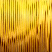 Kožená šňůrka kulatá - slunečnicová 1,5mm