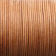 Kožená šňůrka kulatá - tmavá přírodní 1,5mm