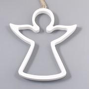 Dřevěný anděl dutý 14cm - vánoční ozdoba