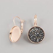 Náušnice pro Crystal Rocks 15mm - růžové zlato