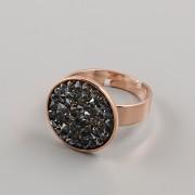 Prsten pro Crystal Rocks 15mm - růžové zlato