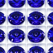 Swarovski Rivoli 1122 – Majestic Blue Foiled - 12mm
