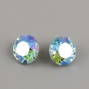 Swarovski Elements XIRIUS Chaton 1088 – Light Turquoise Blue AB Foiled - 8mm