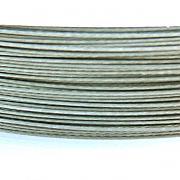 Nylonové lanko bižuterní - šedostříbrné 0,38mm