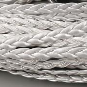 Imitace pletené kůže - stříbrná 5mm