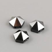 Hexagon Spike dvoudírkové korálky 5060 Swarovski - Jet Hematite - 7,5mm