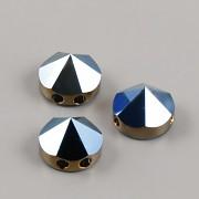 Round Spike dvoudírkové korálky 5062 Swarovski - Metallic Blue - 7,5mm