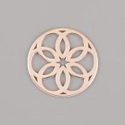 Přívěsek MANDALA PRO NÁRAMKY NA ŠŇŮRCE - Ag925 růžové zlato