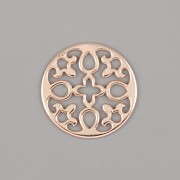 Přívěsek ROZETA PRO NÁRAMKY NA ŠŇŮRCE - Ag925 růžové zlato
