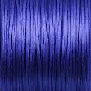 Šnůrka SATÉNOVÁ - ostře modrá - 1mm