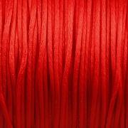 Šnůrka SATÉNOVÁ - červená - 1mm