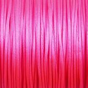 Šnůrka SATÉNOVÁ - neonová růžová - 1mm