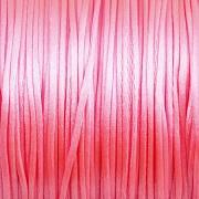 Šnůrka SATÉNOVÁ - neonová růžová - 2mm