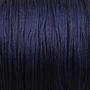 Šnůrka SPLÉTANÁ - tmavě modrá - 0,8mm