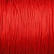 Šnůrka SPLÉTANÁ - červená - 0,8mm