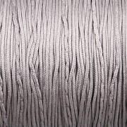 Šnůrka SPLÉTANÁ - stříbrná - 0,8mm