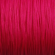 Šnůrka SPLÉTANÁ - sytá růžová - 0,5mm