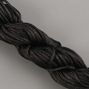 Šnůrka SPLÉTANÁ - černá - 1mm