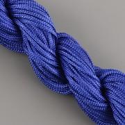 Šnůrka SPLÉTANÁ - ostře modrá - 1mm