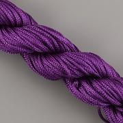 Šnůrka SPLÉTANÁ - ostře fialová - 1mm