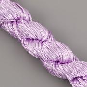 Šnůrka SPLÉTANÁ - fialková - 1mm
