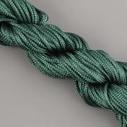 Šnůrka SPLÉTANÁ - tmavě zelená - 1mm