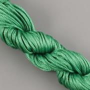 Šnůrka SPLÉTANÁ - ostře zelená - 1mm