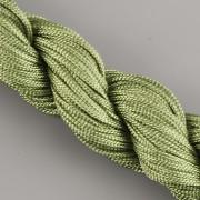 Šnůrka SPLÉTANÁ - vojenská zelená - 1mm