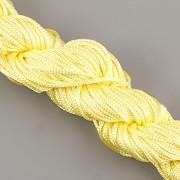 Šnůrka SPLÉTANÁ - světle žlutá - 1mm