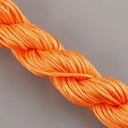 Šnůrka SPLÉTANÁ - oranžová - 1mm