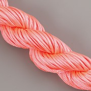Šnůrka SPLÉTANÁ - neonová růžová - 1mm