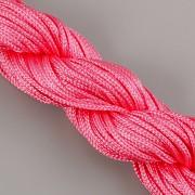 Šnůrka SPLÉTANÁ - melounová růžová - 1mm