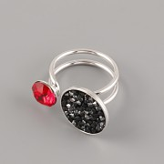 Prsten MEGGIE pro Crystal Rocks a Šaton Swarovski - rhodium