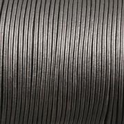 Kožená šňůrka kulatá - metalická šedá 1,5mm