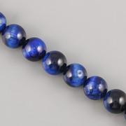 Korálky z minerálů - Lapis Lazuli tygří oko - 10mm